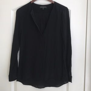 Banana Republic Black Silk Blouse, Small